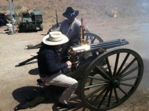 RJ Gatling on the 1874 Gatling.